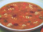 vegetable bean soup from balanced protein diet