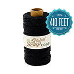 Global Hemp Black 20# Test Waxed Hemp Twine