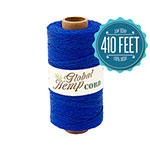Global Hemp Blue 20# Test Waxed Hemp Twine