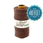 Global Hemp Brown 20# Test Waxed Hemp Twine