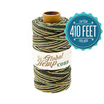 Global Hemp Camouflage Variegated 20# Test Waxed Hemp Twine