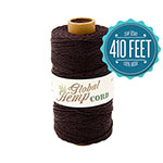 Global Hemp Dark Brown 20# Test Waxed Hemp Twine