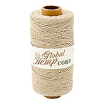 Global Hemp Natural 20# Test Waxed Hemp Twine
