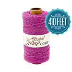 Global Hemp Radiant Orchid 20# Test Waxed Hemp Twine