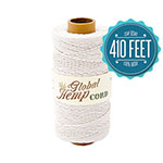 Global Hemp White 20# Test Waxed Hemp Twine