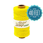 Global Hemp Yellow 20# Test Waxed Hemp Twine