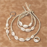 Cowrie Shells Hemp Jewelry Kit
