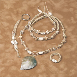 Shell Leaf Hemp Jewelry Kit