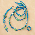 Turquoise & Lime Butterfly Hemp Jewelry Kit