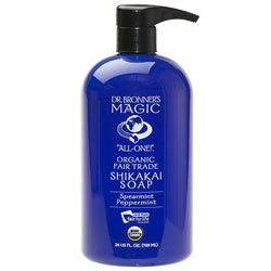 Dr. Bronner's Organic Shikakai Spearmint Peppermint Body Soap