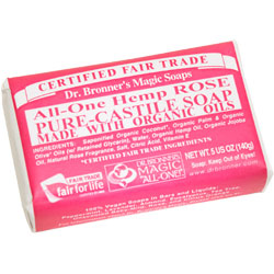 Dr. Bronner's Rose Hemp Bar Soap