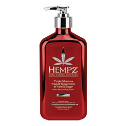 Hempz Triple Moisturizer Frosted Peppermint & Vanilla Sugar Herbal Whipped Body Creme - 17 oz