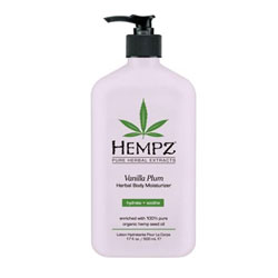 Hempz Vanilla Plum Herbal Moisturizer - 17 oz