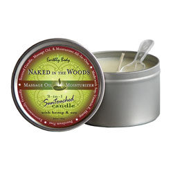 Earthly Body Naked in the Woods Scented Soy and Hemp Body Candle