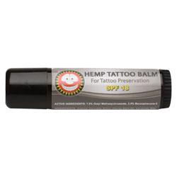 The merry hempsters spf 18 tattoo hemp balm 0 6 oz for Sunscreen new tattoo