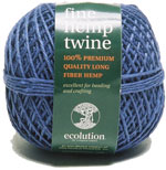 Ecolution Blue Fine Hemp Beading Yarn