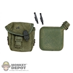 Canteen: Ace 2 Quart Canteen & Cover 2nd Pattern w/Alice Clip (Aged)