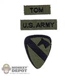 "Insignia: Ace 1st Cavalry Division ""Airmobile"" & Name Patches"