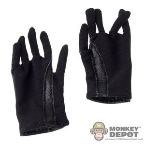 Gloves: Art Figures Black Leatherlike Gloves