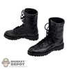 Boots: Art Figures Black Weathered Tactical Boots