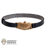 Belt: Art Figures Black Belt w/Gold Eagle Buckle (Metal)