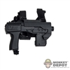 Rifle: Art Figures Assault Pistol w/Drop Down Holster & Extended Silencer
