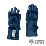 Gloves: Art Figures Blue Leatherlike Gloves w/Hands