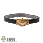 Belt: Art Figures Female Black Belt w/Gold Eagle Buckle