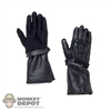 Gloves: Art Figures Black Leatherlike Gloves w/Hands