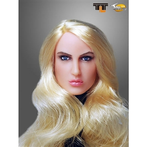 Head: TTL Toys Female Head with Long Curly Blonde Hairstyle (TTL-66001H)