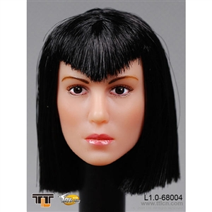Head: TTL Toys Female Head with Medium Black Hairstyle (TTL-68004H)