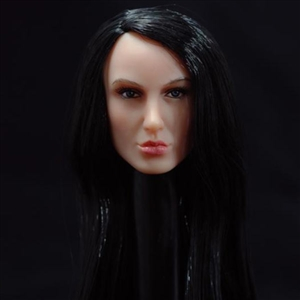 Head: TTL Toys Female Head with Long Straight Black Hairstyle (TTL-A009)