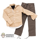 ACI Toys Military Shirt (Khaki), Black Vest & Cargo Pants (Grey) (ACI-748)