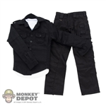 ACI Toys Military Shirt (Black), White Vest & Cargo Pants (Black) (ACI-747)