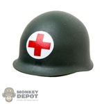 Helmet: Alert Line WWII US Medical M1 Helmet (Metal)