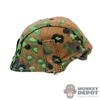 Helmet: Alert Line German Metal Helmet w/Spring Oak Leaf Pattern Cover