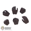 Hands: Asmus Toys 6 Piece Female Molded Brown Hand Set