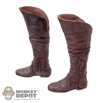 Boots: Asmus Toys Brown Molded Boots w/Ankle Pegs