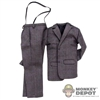 Suit: Ace Toyz Gray Suit w/Light Purple Stripes & Suspenders