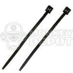 Handcuffs BBi Zip Ties BLACK Pair