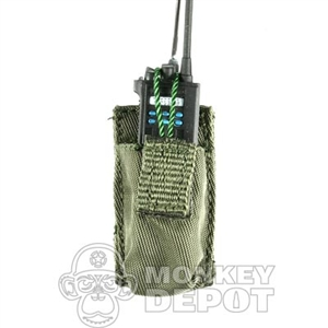 Pouch BBi Radio Green MOLLE NO Radio Included