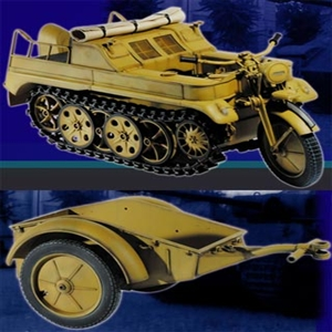 Boxed Vehicle Dragon Cyber Hobby German Kettenkrad Trailer Yellow 71271