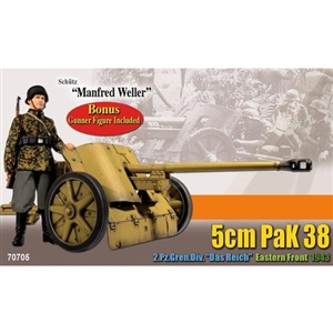 Boxed Figure: Dragon Manfred Weller w/5cm PaK 38 (70705)