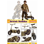 1/6 Model Kit: Dragon 1/6 British Welbike (75034) UNPAINTED KIT