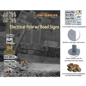 Boxed Accessory: Dragon Cyber Hobby Electric Pole w/Road Signs (71287)