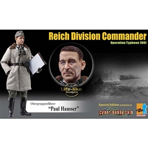 "Boxed Figure: Obergruppenfuhrer ""Paul Hauser"" (70815) NO CARD"