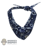 Tie: Battle Gear Toys Western Neckerchief (Blue Paisley)