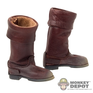 Boots: BBK Western Style Brown (Weathered)