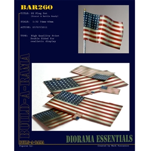 Build-A-Rama 1/31 US Flag Set (pre-cut and ready) - BAR260