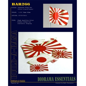 Build-A-Rama 1/32 Japanese Flag Set (pre-cut and ready) - BAR266